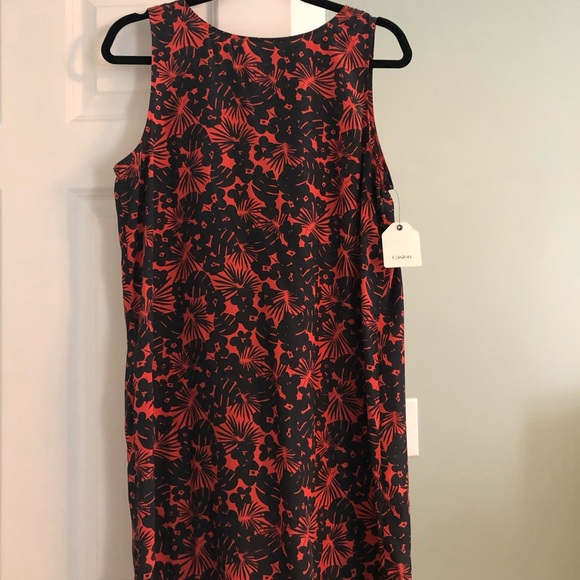 Caslon Dresses & Skirts - Caslon Navy blue and coral floral dress